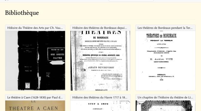 Bibliothèque numérique des spectacles